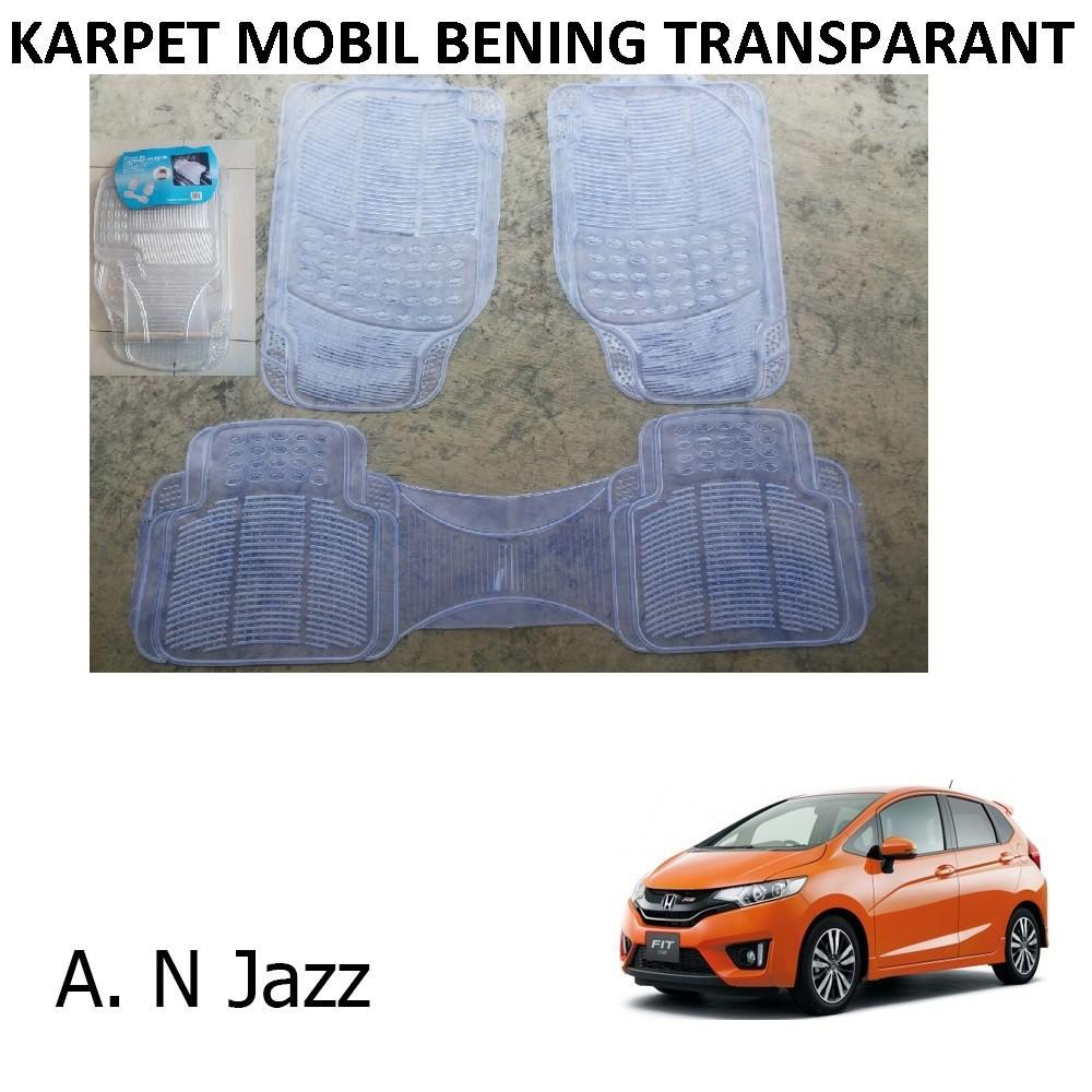 Karpet Mobil All New Jazz / Car Carpet / Floor Mats Universal Warna Bening Transparant