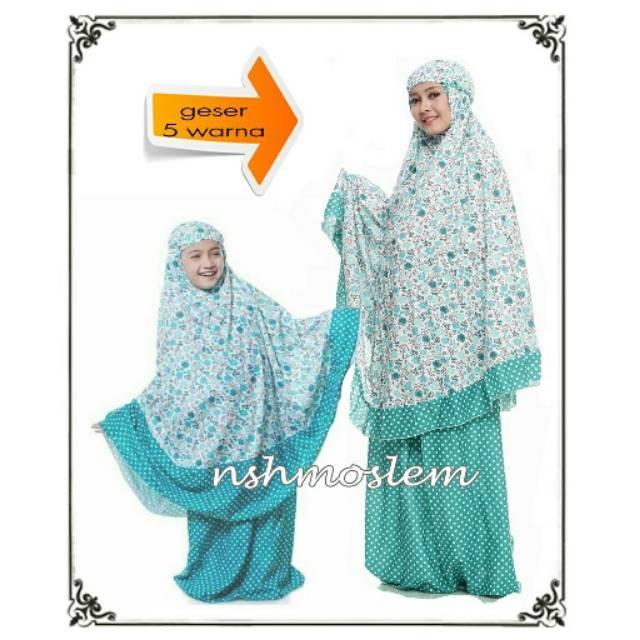 Mukena Couple IBU DAN ANAK Katun Rayon/Bali LOLITA by NSH (Geser 5 Warna Cantik)--->>>>>> MAROON