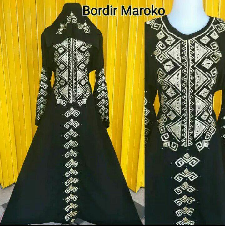 Free Ongkir Baju Lebaran Gamis Elegant Abaya Arab Turki Good Quality