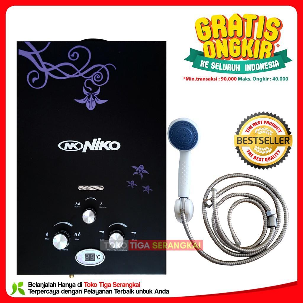 Niko Gas water Heater NK 6LD-Hitam