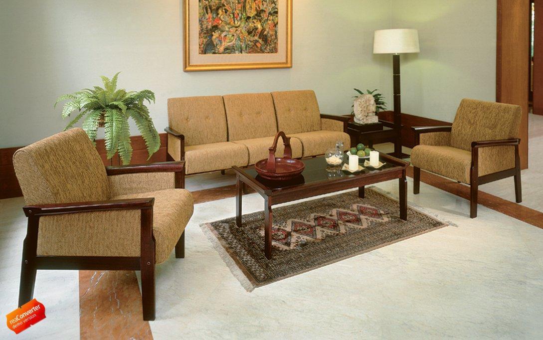 Set Meja dan Kursi Tamu Ligna Ivory