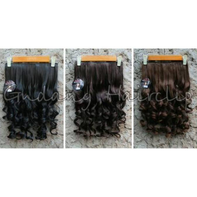 Hair Clip Keriting Sosis / Hairclip Keriting Gantung Murah