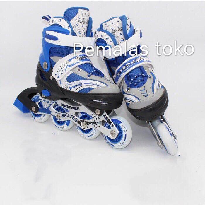 sepatu roda bajaj lampu anak superb  inline skate power murah
