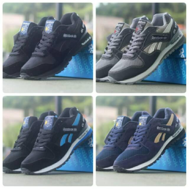 Sepatu Sneakers , Reebok GL 6000 , Keren Sport Casual Santai Murah Cowok Olahraga Running Sneaker