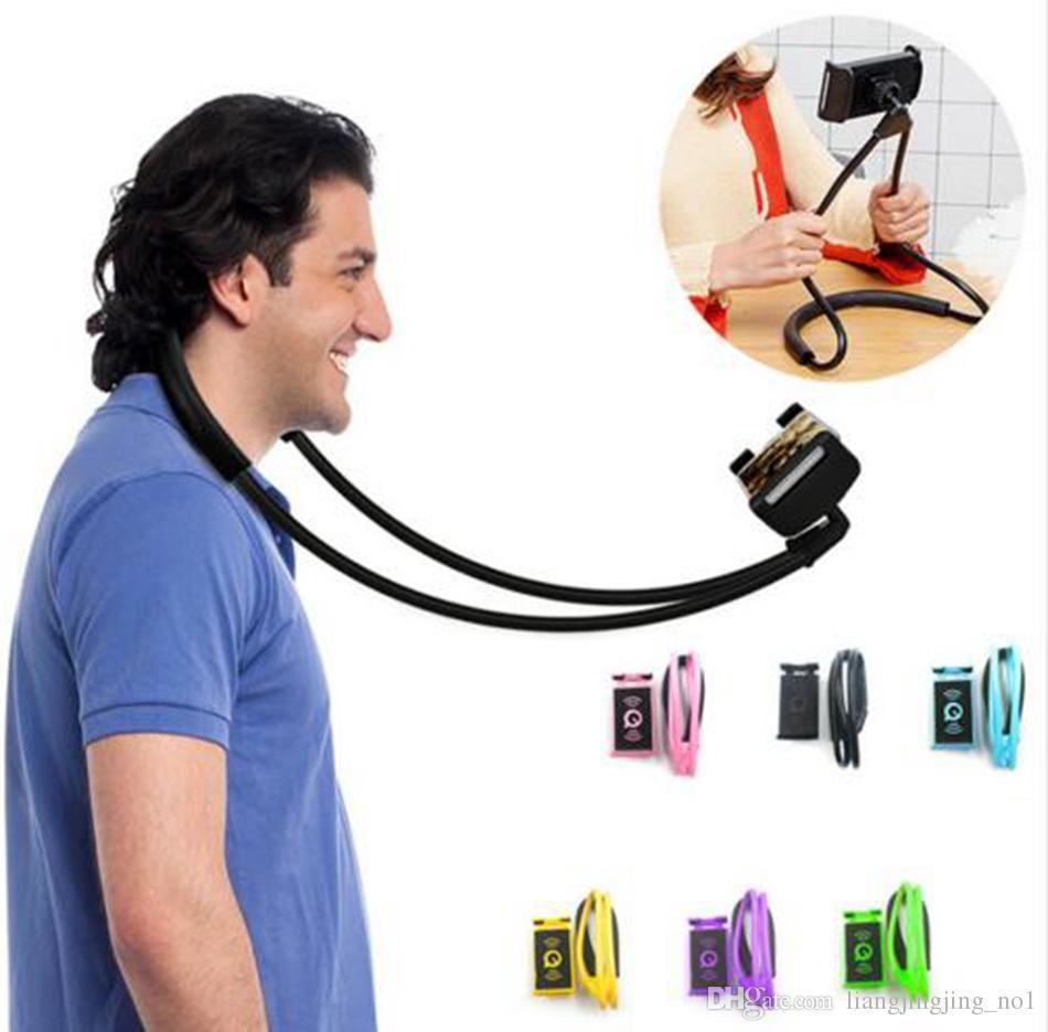 Holder Leher Handphone Lazy Neck Phone Holder universal Flexible Tongsis
