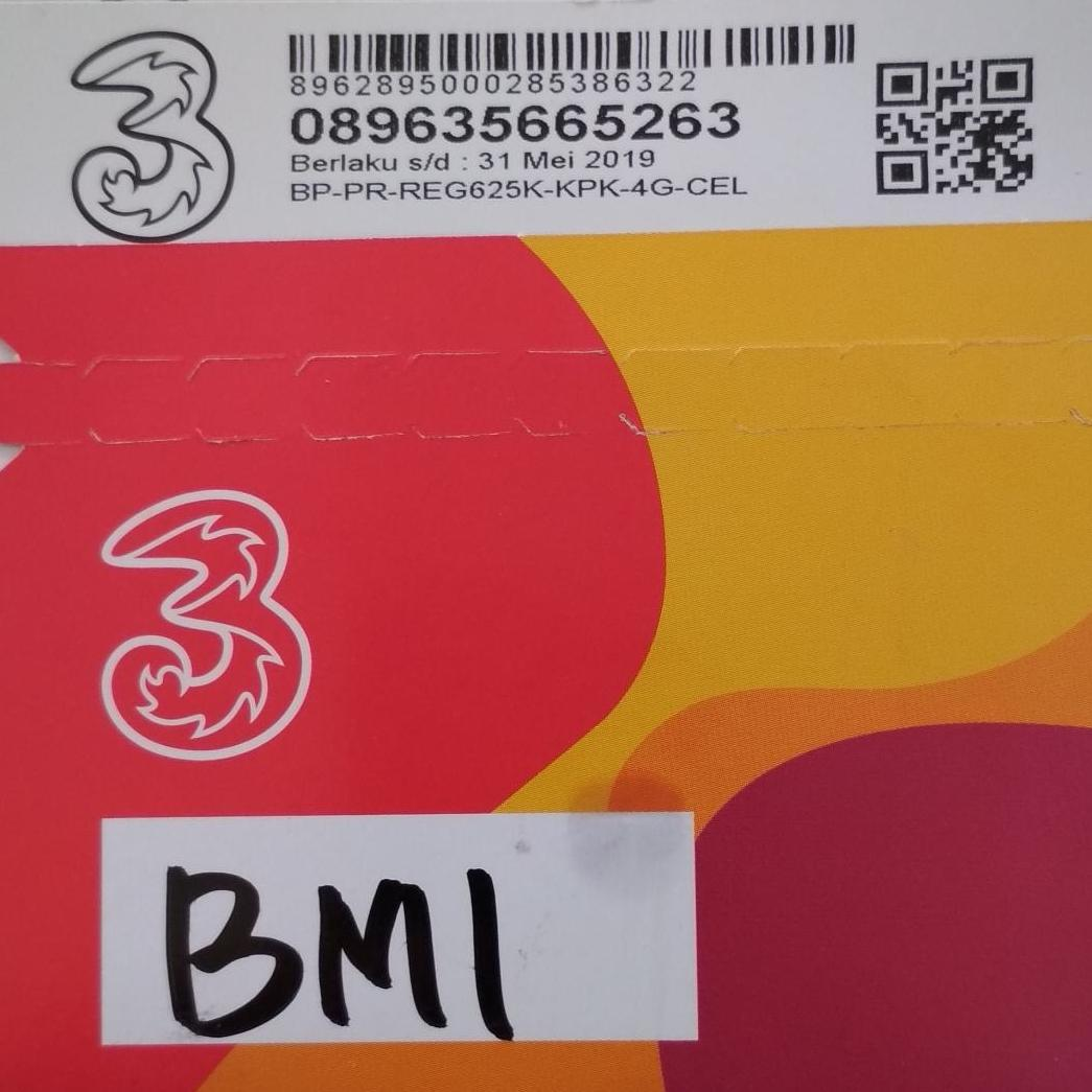 Pulsa Tri Voucer Perdana Paket Internet 3 Aon Bm1