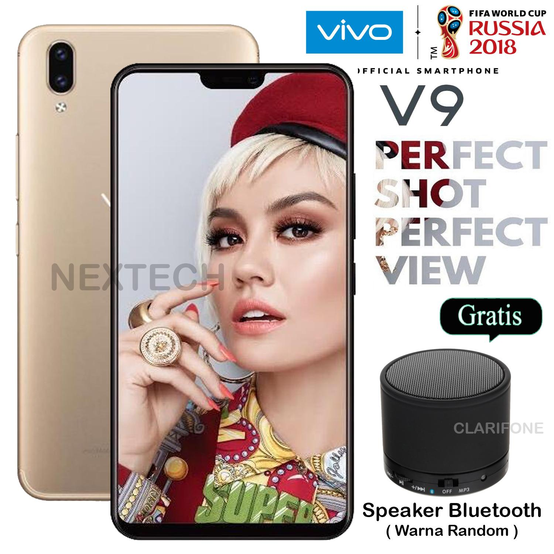 Vivo V9 - Ram 4GB - Rom 64GB - 4G/LTE - Layar 6.3 inch - Garansi Resmi