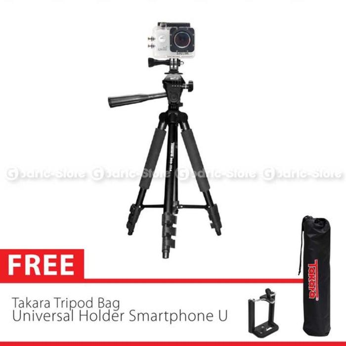 Takara Tripod Eco-173A With Pouch/Tas & Holder U Smartphone