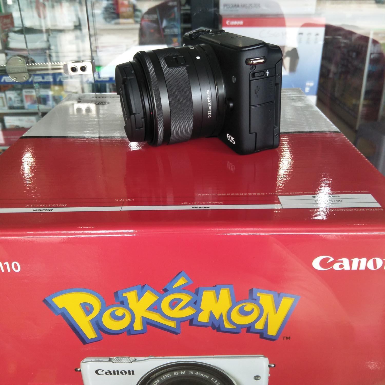 Fitur Canon Eos M10 White Ef M15 45 Is Stm Kit Wifi 18mp Cmos 15 45mm 18 Mp Hitam Kamera Mirorless Black Pockemon Edition
