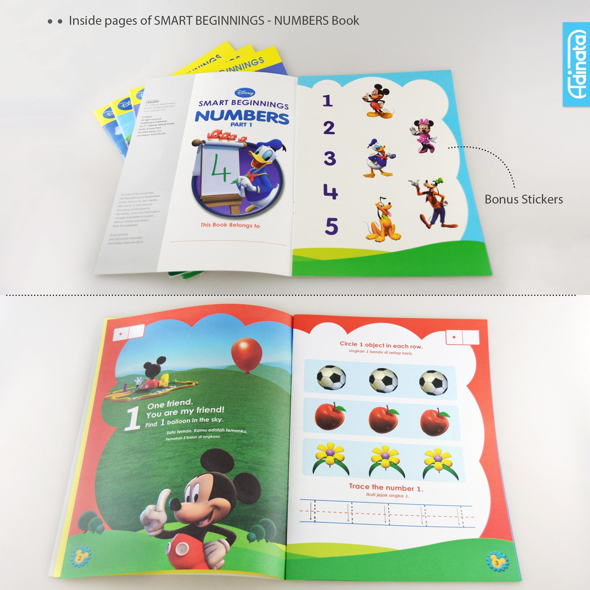 Buku aktivitas Disney Smart Beginning / activity book TK A-B (Numbers Part 1 )