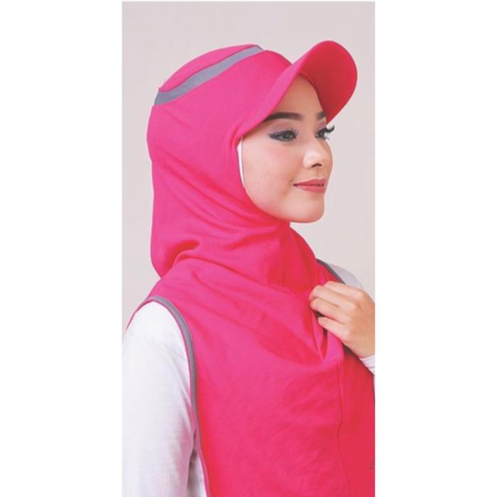 Hijab Long Runner/Jilbab Olahraga/Kerudung Instan/Sport