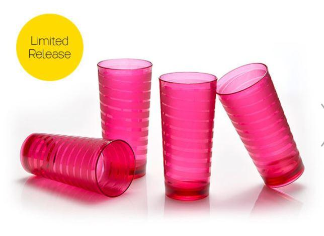 Tupperware Spiral tumbler - 4 pcs gelas crystal Tupperware
