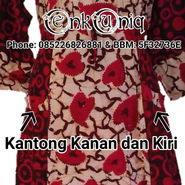 Promo Hanya Hari Ini Dress Batik Cap L Dress Maura L Dress Batik Pekalongan L Daster Panjang L