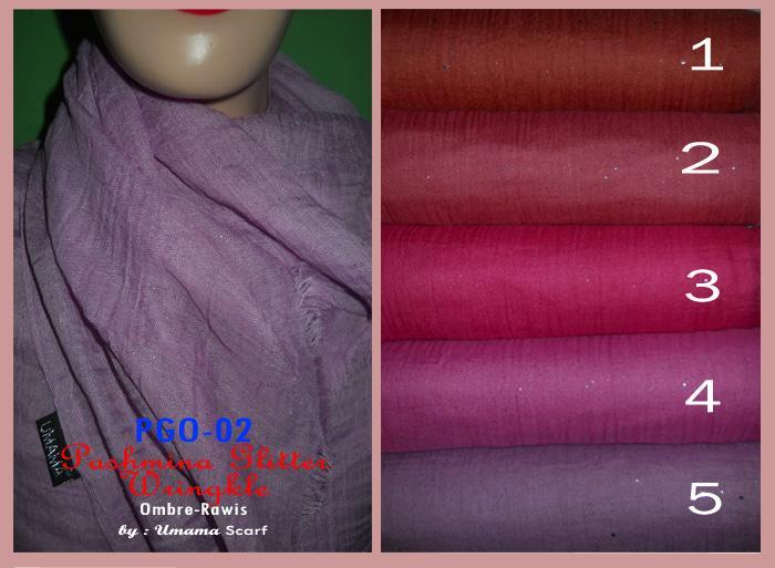 Jilbab/Kerudung/Pashmina Glitter Wrinkle Rawis PGO-02