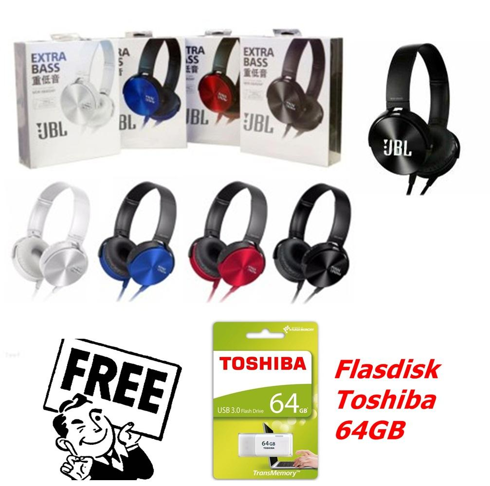 JBL Headphone Stereo XB-450 - Random Colour FREE TOSHIBA 64GB