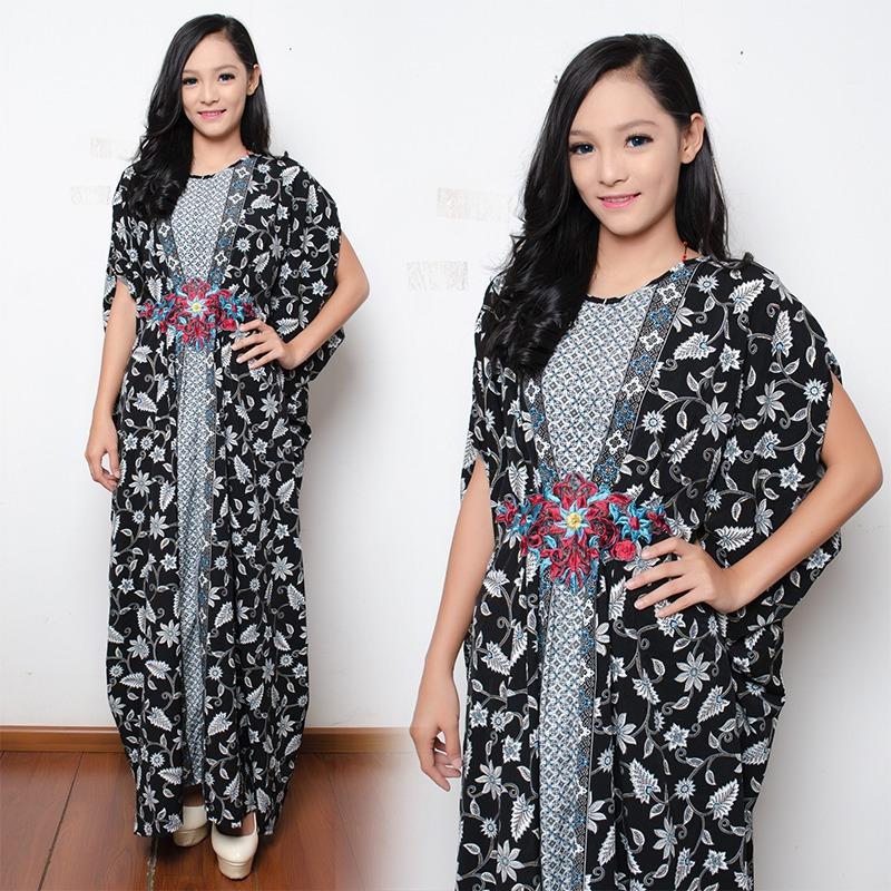 SB Collection Dress Maxi Sari Longdress Kaftan Gamis Jumbo Batik Wanita