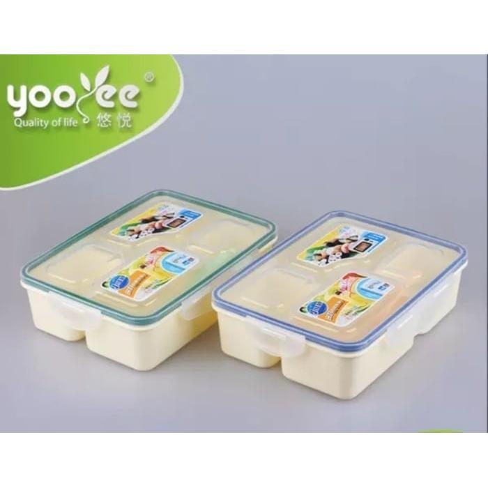 Kotak makan Bekal Anak Lunch box Yooyee 4 sekat 319