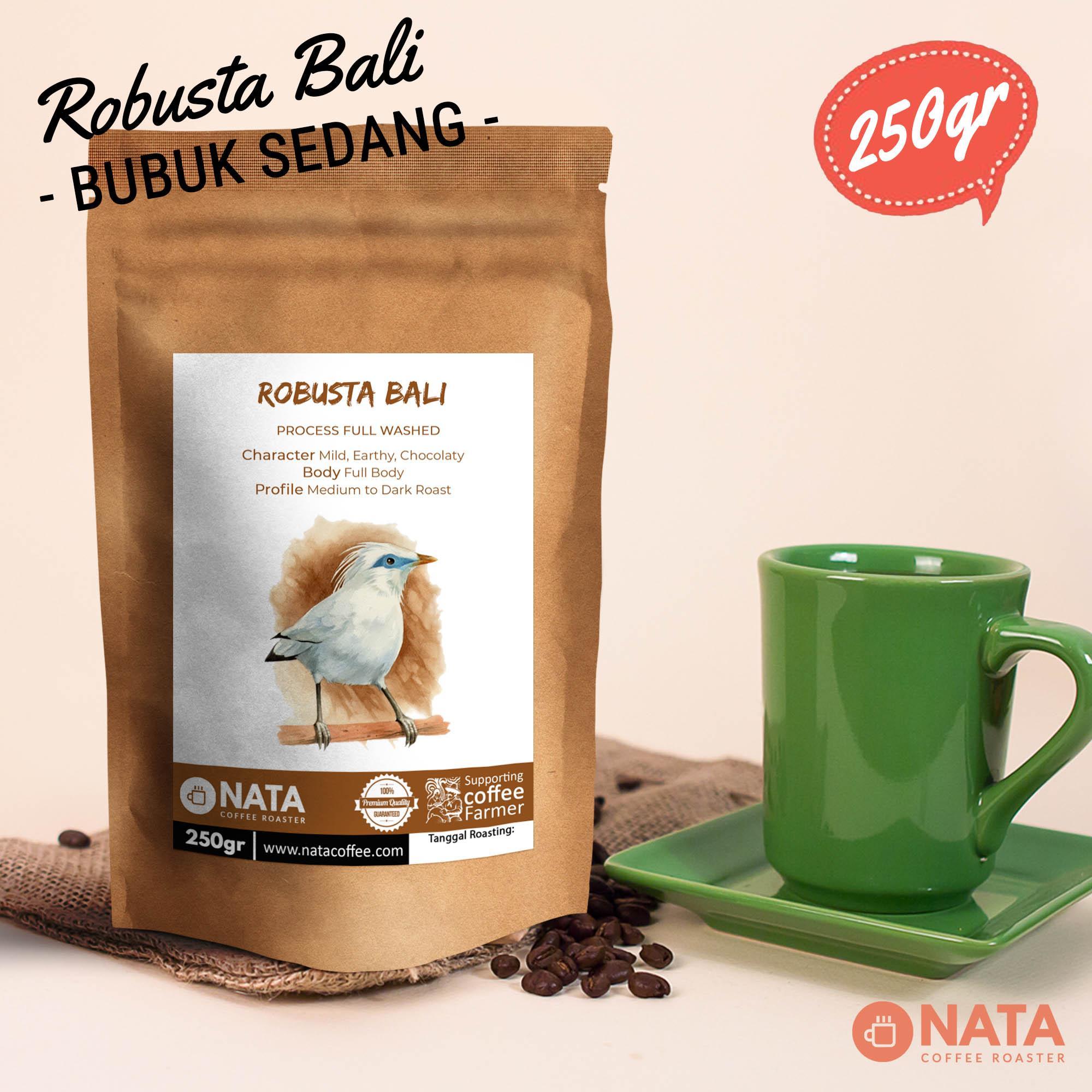 Nata Kopi Bali Pupuan Robusta Biji dan Bubuk 250gr - BUBUK SEDANG