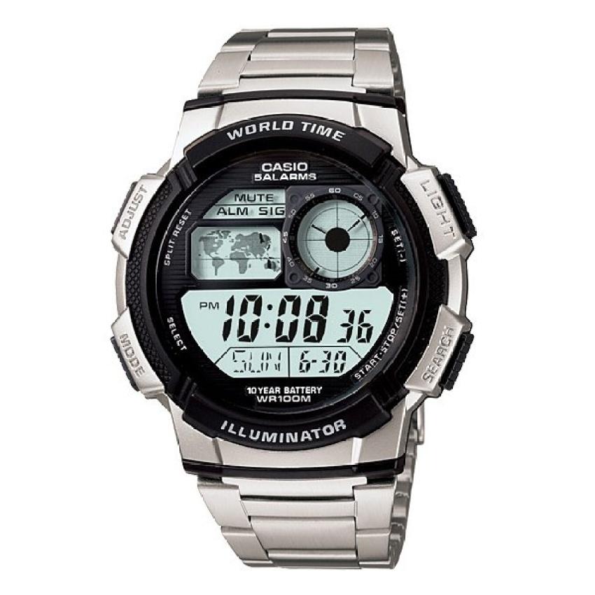 Spesifikasi dari Casio Digital AE-1000WD-1AV Jam Tangan Pria - Silver - Stainless