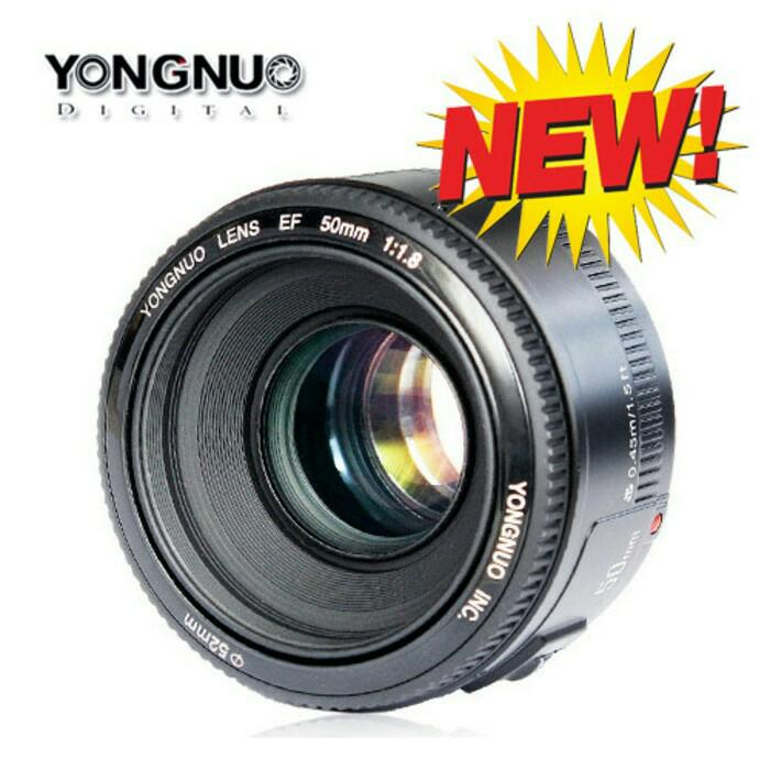 Lensa fix YONGNUO YN 50mm f1.8 AF Aperture Auto Focus for Canon