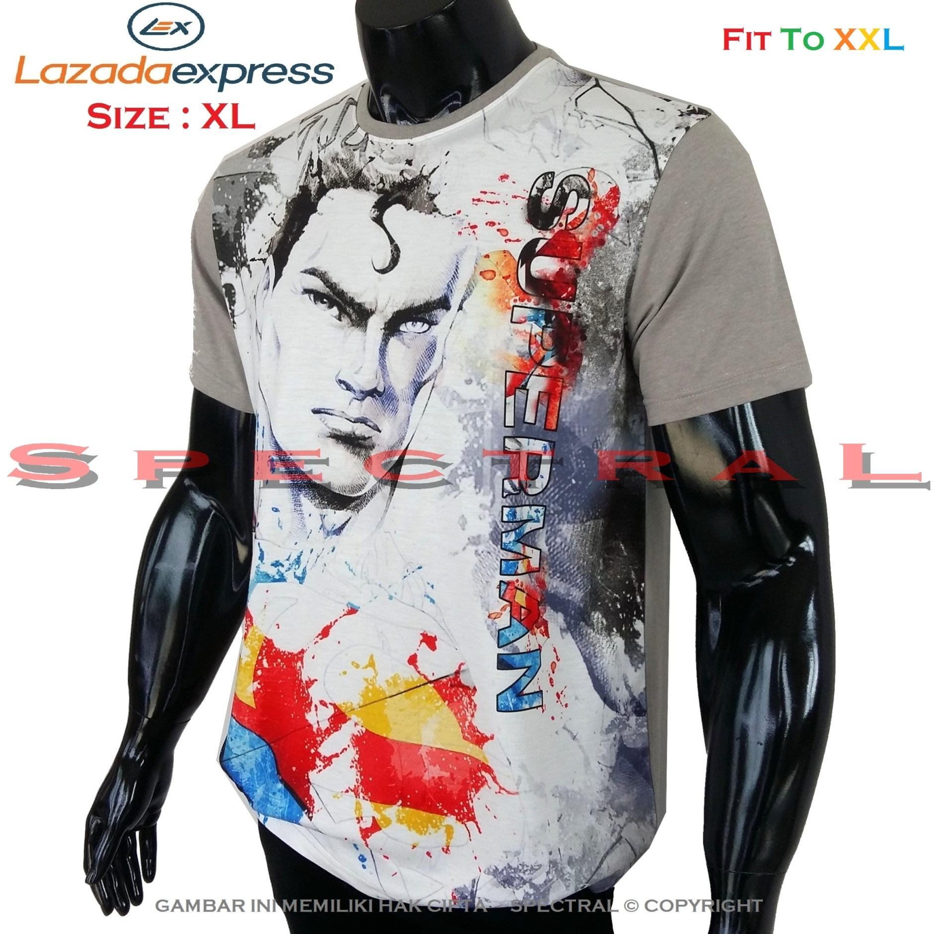 Spectral – 3D SUPERMAN Kualitas HD Printing Size XL Fit To XXL Soft Rayon Viscose Kaos Distro Fashion T-Shirt Atasan Baju Pakaian Polos Pria Wanita Cewe Cowo Lengan Murah Bagus Keren Jaman Kekinian Jakarta Bandung Gambar Marvel Avenger Joker Batman Iron