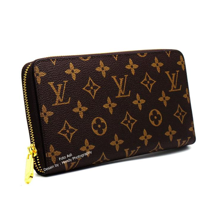 DOMPET PANJANG KULIT ASLI IMPORT MURAH  LOUIS VUITTON AAAM60003 - 1if4Qj