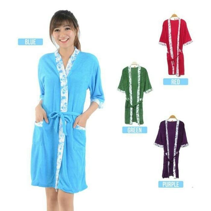 Handuk Mandi Model Piyama All Size (Ukuran Jumbo) Atau Kimono Handuk Untuk Wanita - Multifungsi