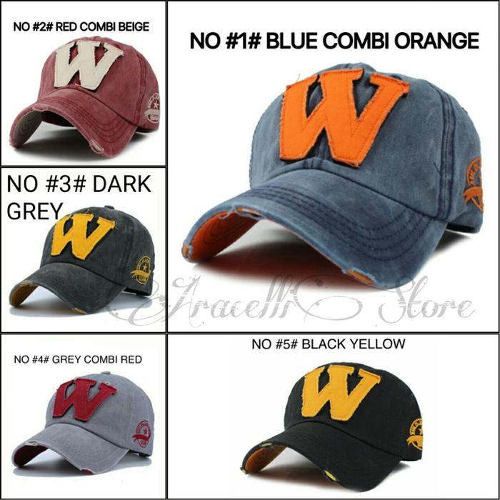 Topi Import Logo W / Jual Topi Import Fashion Murah / Topi Cewek Cowok Terlaris di Lazada