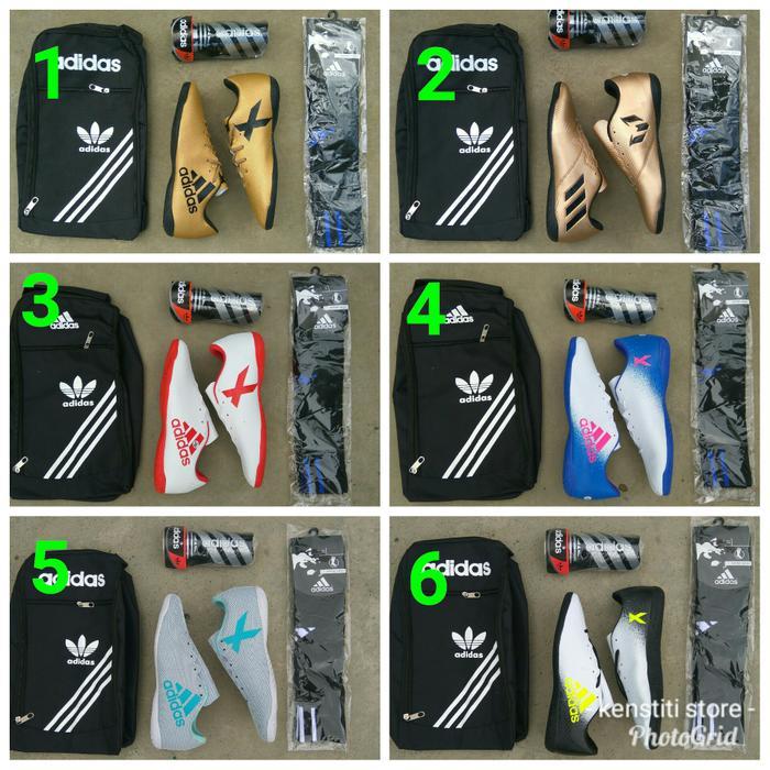 PAKET LENGKAP Sepatu Futsal Adidas Questra