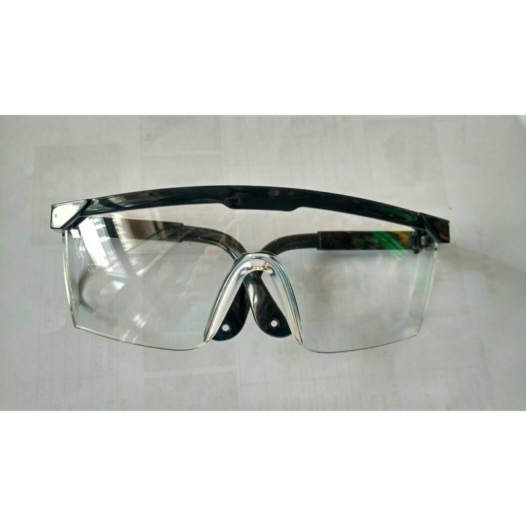 Kacamata Safety Putih Bening/Kacamata Untuk Gerinda