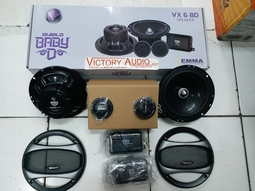 Speaker Split Venom Baby Diablo VX 6 BD VX6BD VX 6BD Speaker Venom Baby Diablo