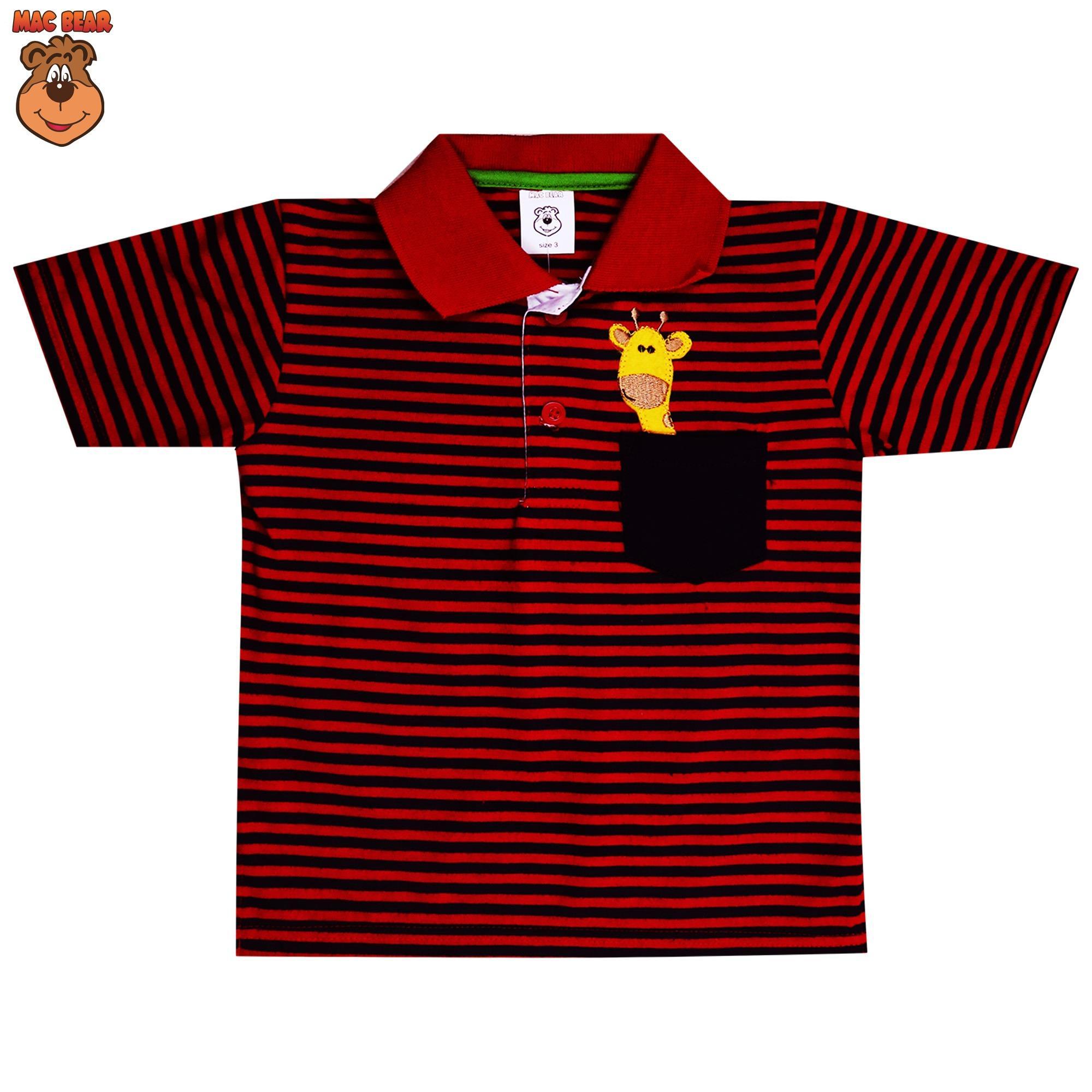 Macbear Baju Polo Anak M For White Stripes On Yellow Size 5 Ae3 1801 Kids Setelan Piyama Little Astronout Hijau Tua Cool Red Source Atasan