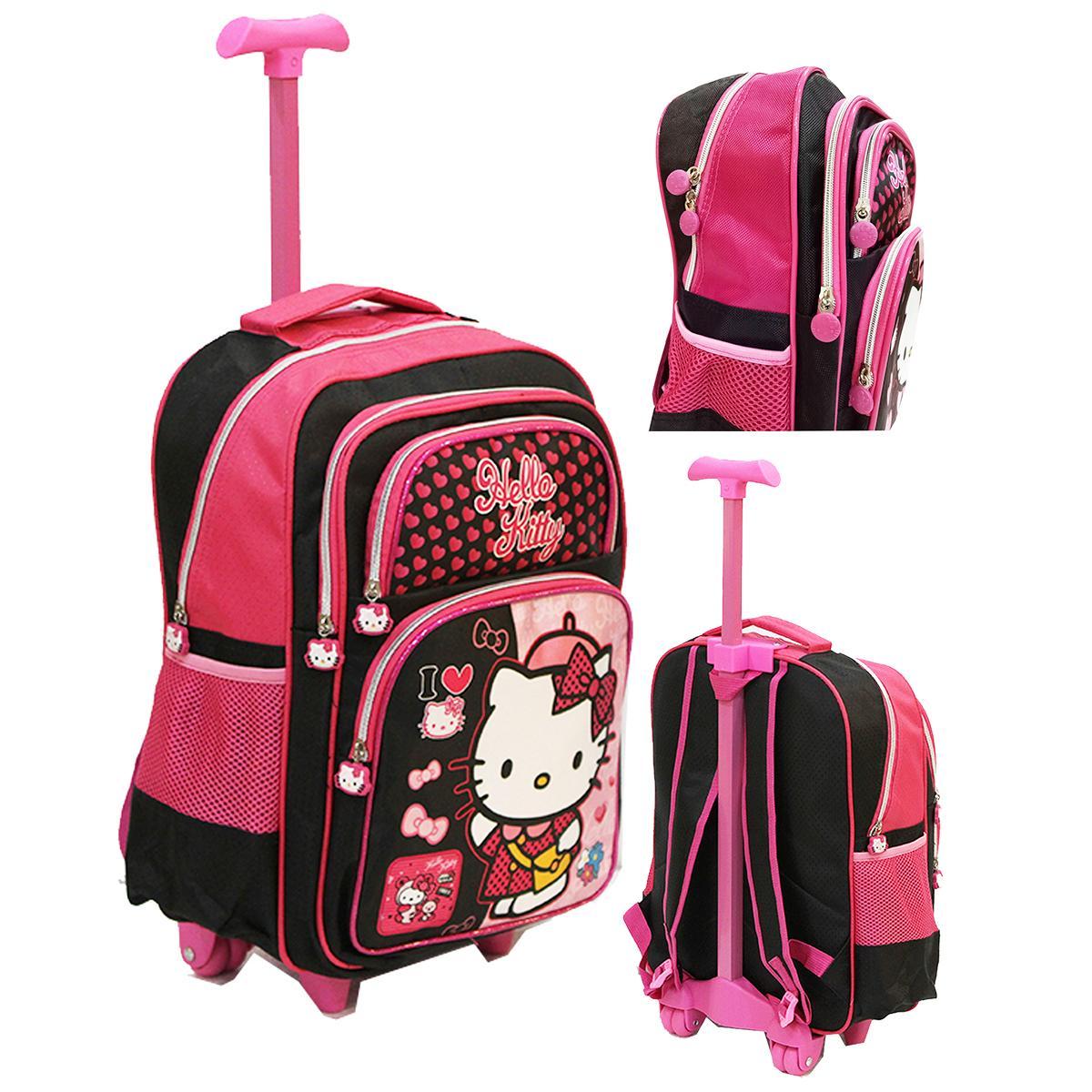 Onlan Tas Anak Sekolah SD Bahan Saten Ukuran Besar dan Luas - Pink