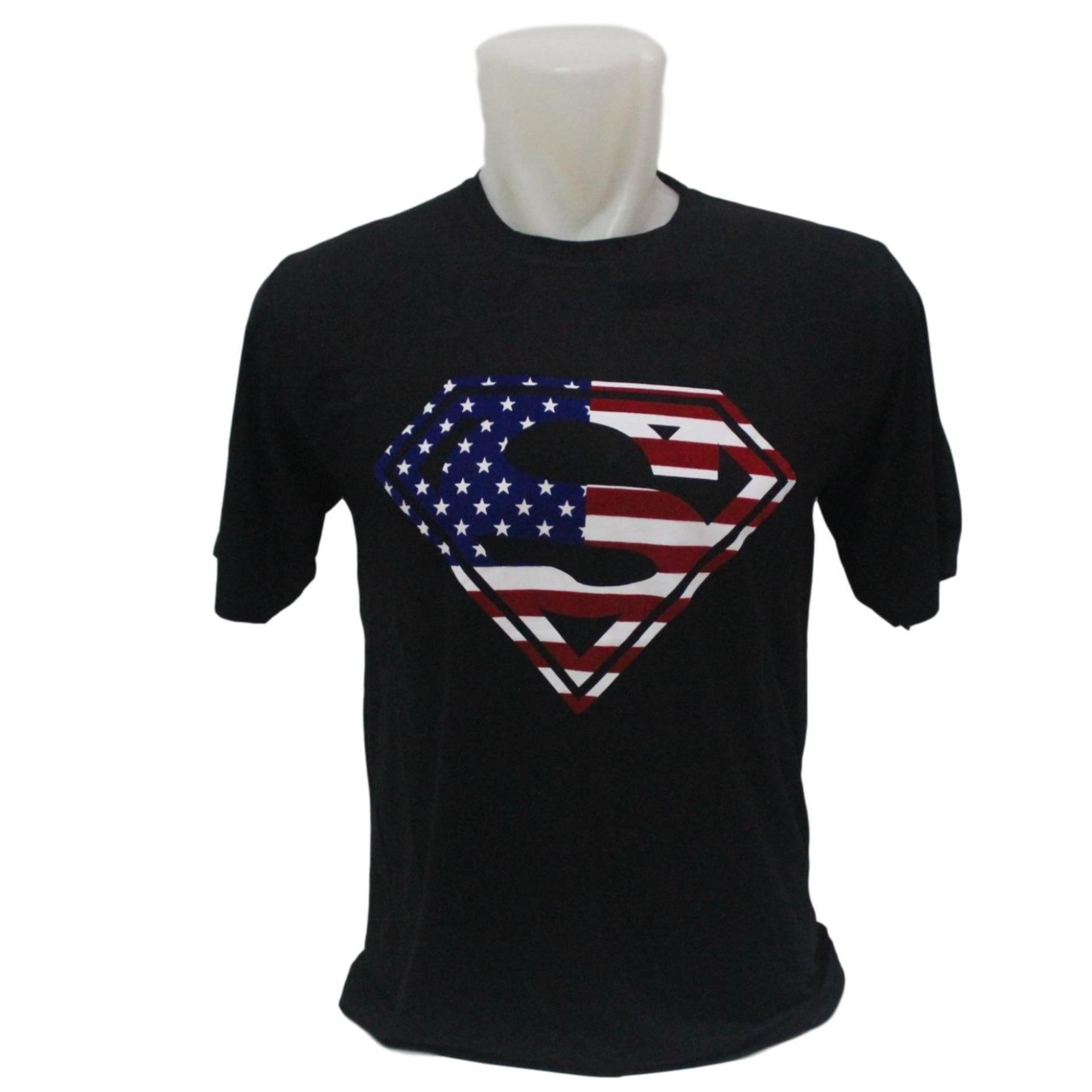 Vrichel - Kaos / Tshirt / Distro / Atasan / Kaos Distro Logo Superman USA