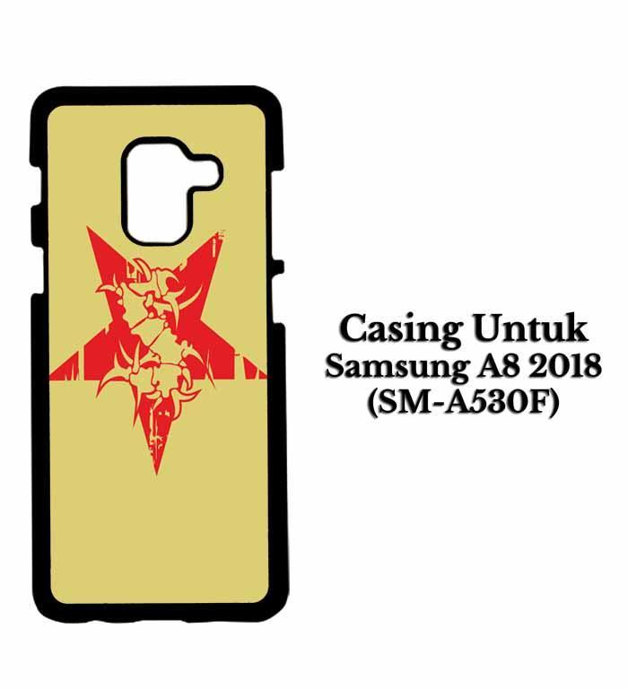 Casing SAMSUNG A8 2018 sepultura logo Hardcase Custom Case Se7enstores