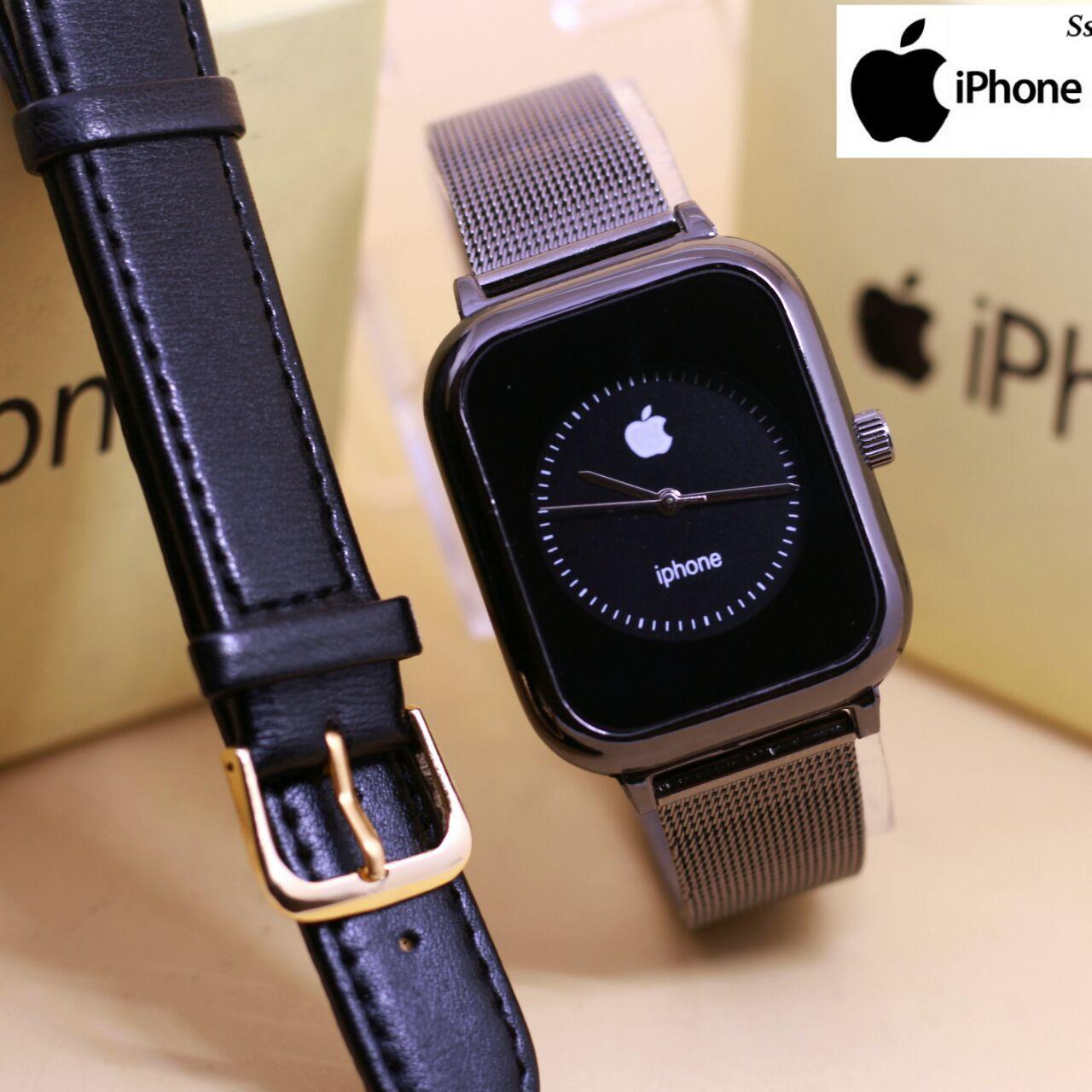 Iphone Rantai pasir jam tangan wanita bonus tali cadangan lengkap dengan box