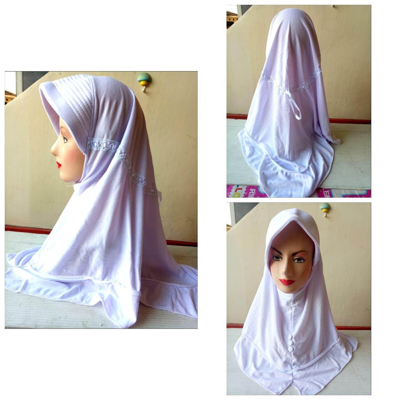 jilbab putih polos jilbab  anak sekolah