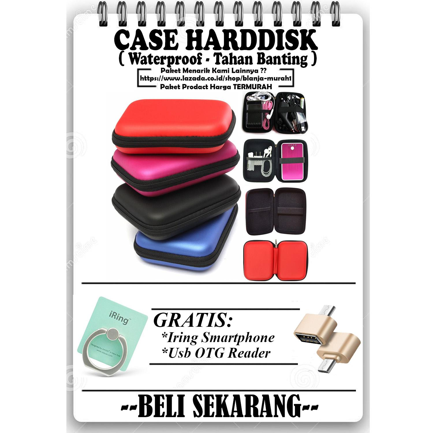 Promo Sale Sofcase Harddisk Hard Case Shockproof Tas Hardisk / Powerbank Tahan Banting for External HDD 2.5 inch Pouch Bag - GRATIS Usb OTG Reader Android & Iring Stand Hp / Tablet