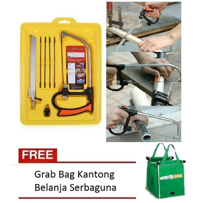 Aiueo Gergaji Mini Serbaguna Mini Magic Saw Gergaji Triplek Besi Pipa Free Grab bag Random Color