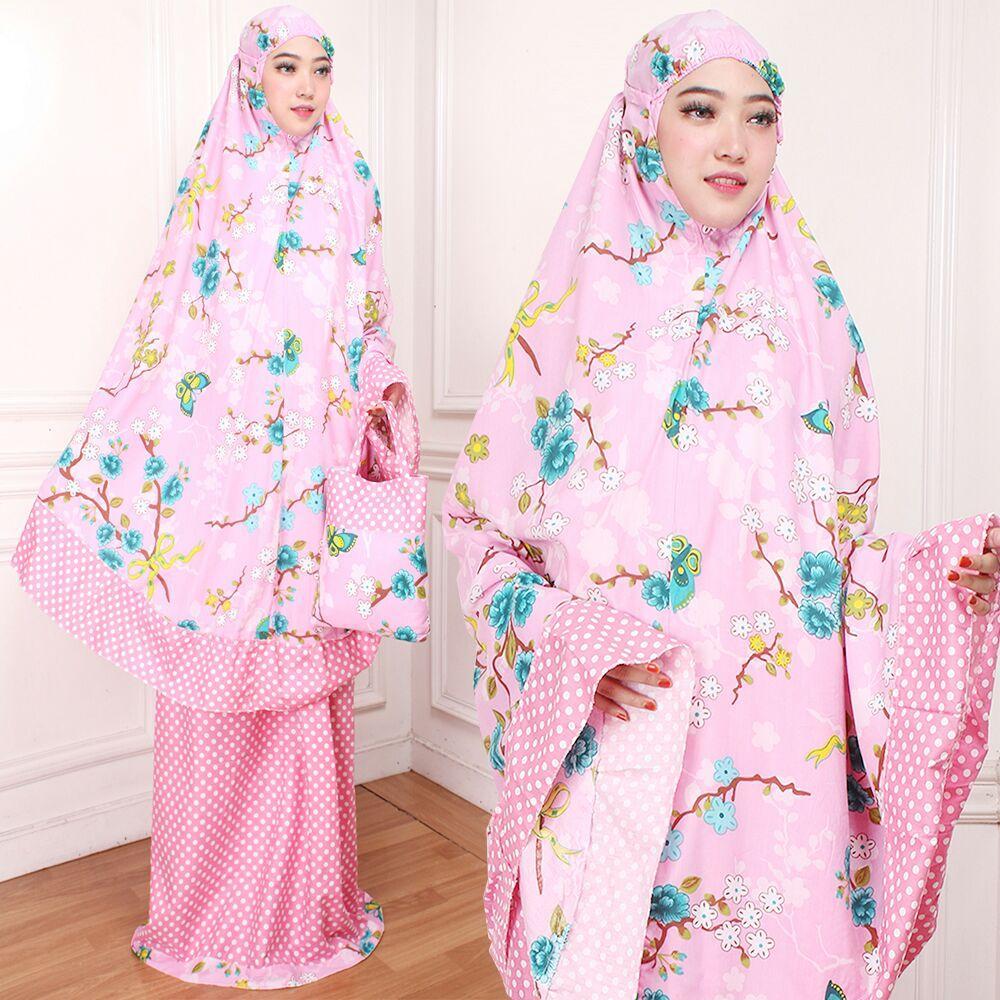mukena dewasa katun jepang mukena trendy fashion bunga