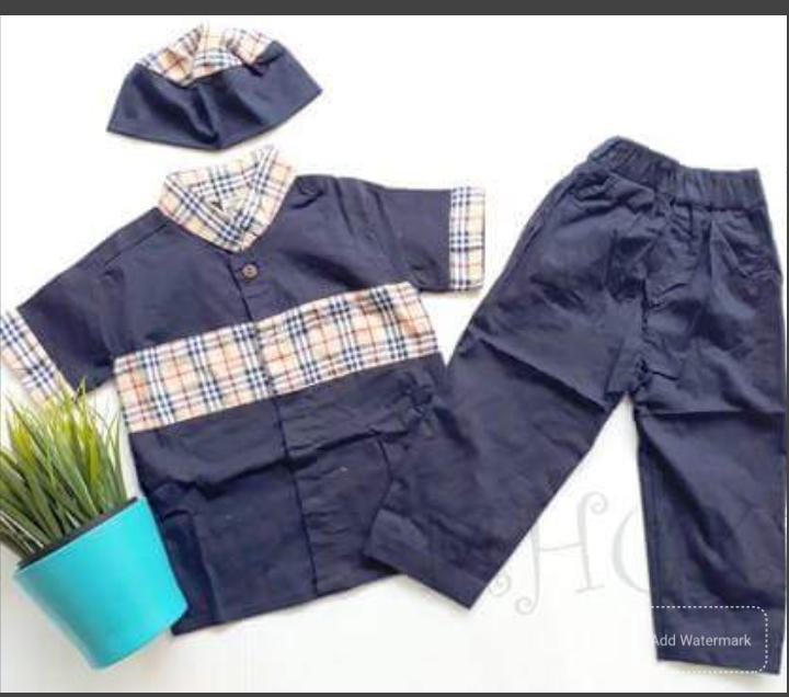 Set Koko Kotak Anak 6 bulan - 1 tahun - 2 Tahun - Koko turki pakistan bayi - baju lebaran bayi laki-laki - Pakaian Anak cowok