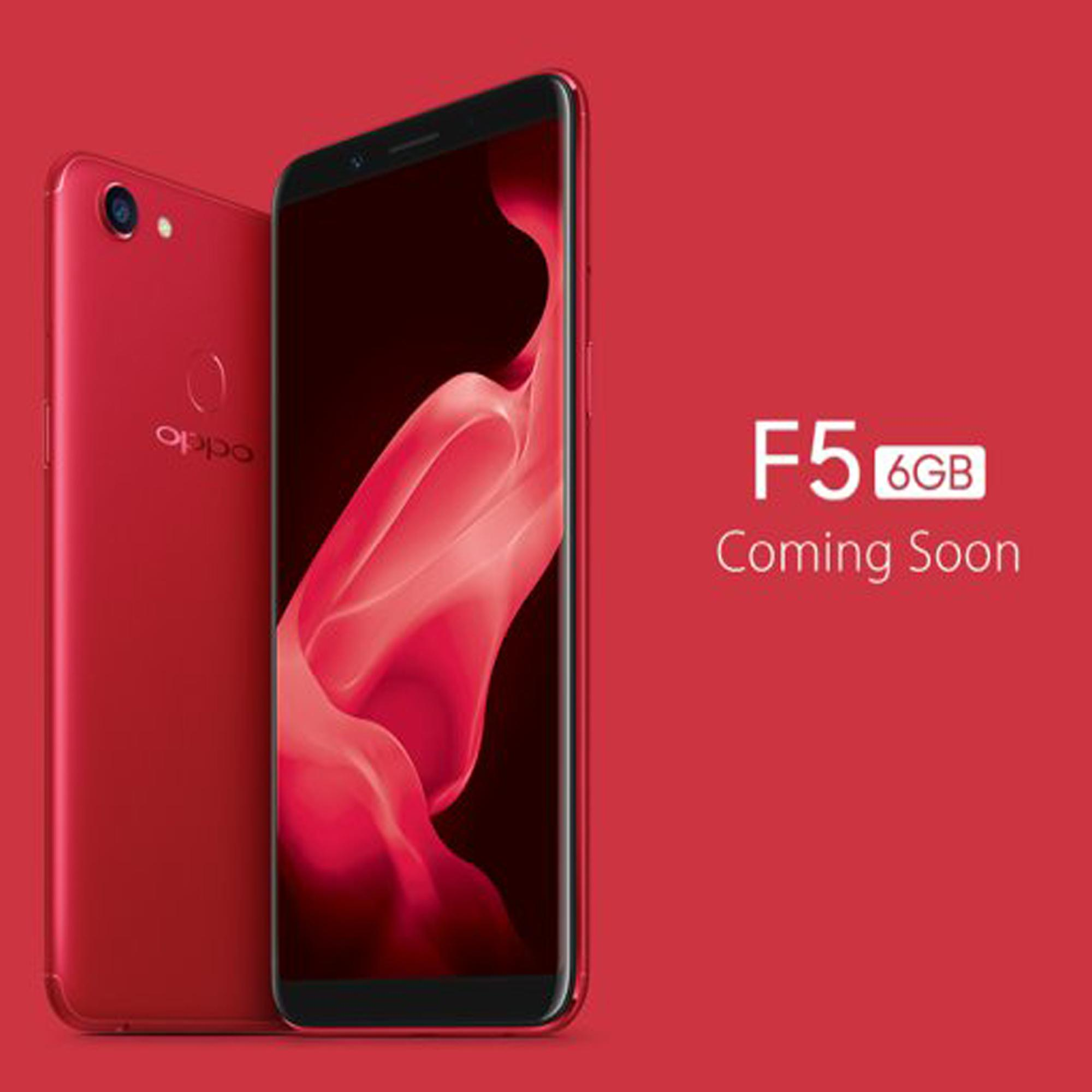 Oppo F5 Ram 6GB 64GB RED Edition Smartphone