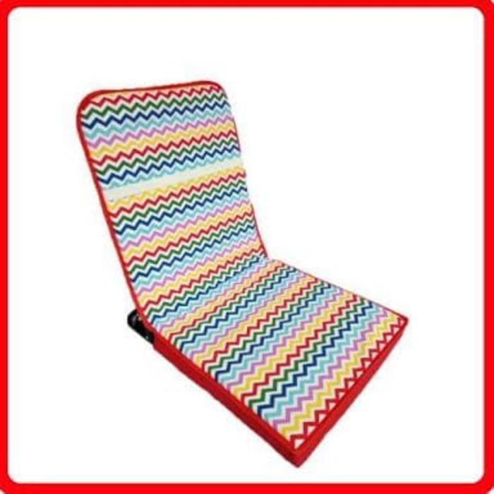 Kursi lesehan - kursi malas motif rainbow garis nyaman - Kursi Lipat Terlaris - Kursi Lipat Multifungsi - Kursi Lipat Best Quality - Produk Best Seller