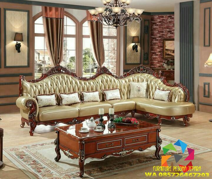 Kursi sofa tamu ukir Jati kualitas. PESONA JEPARA 157