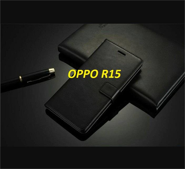 Cover Oppo R15 Case Premium Flip Leather Wallet Backcase Oppo R 15 Terbaru 2018