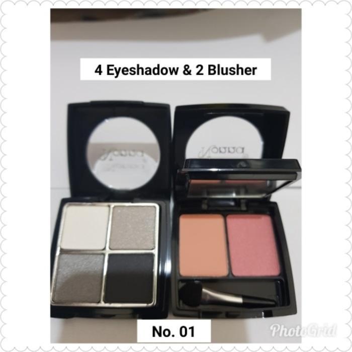 4 EYESHADOW & 2 BLUSHER NONNA 1006 NO. 01 MAKEUP SET