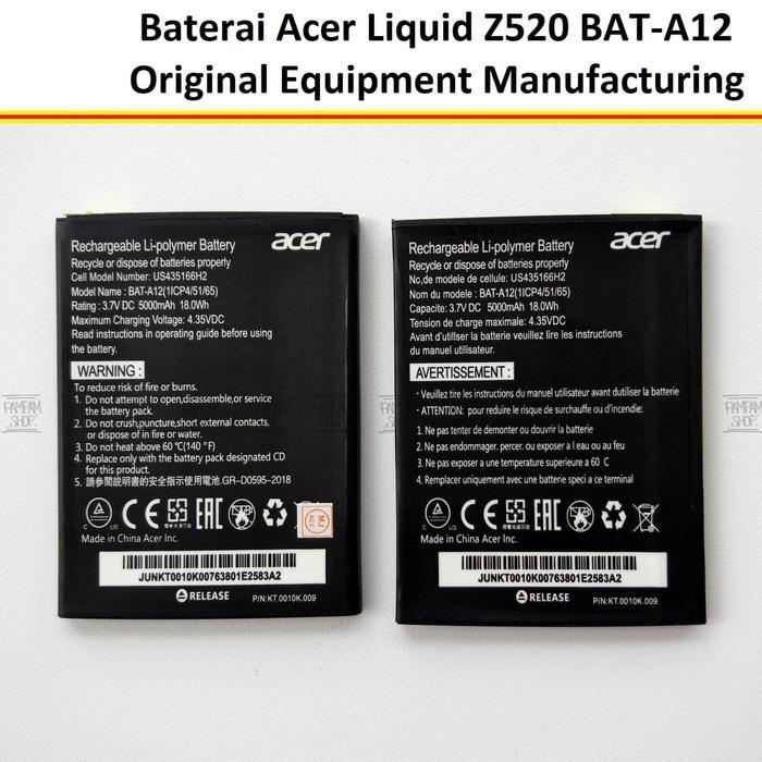 Baterai Handphone Acer Liquid Z520 BAT-A12 BAT A12 Original OEM Batre