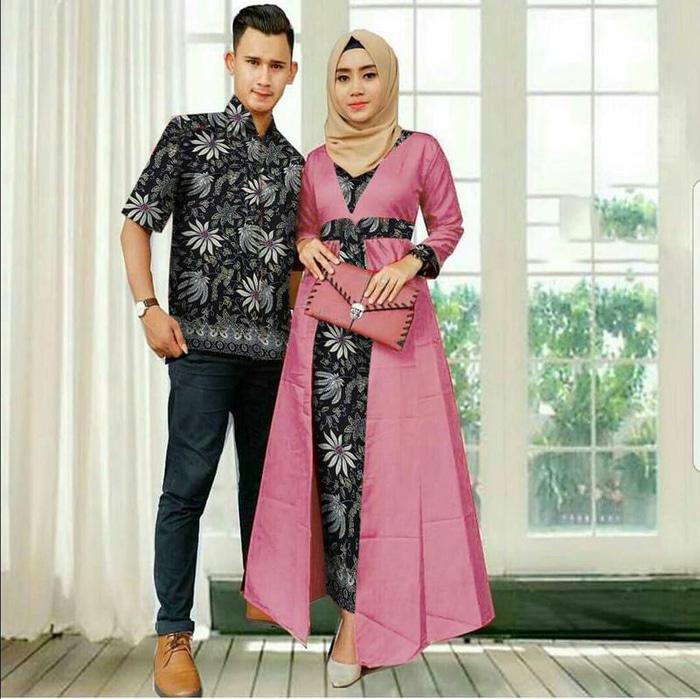 model baju muslim gamis terbaru dan modern CP MELINDA BATIK