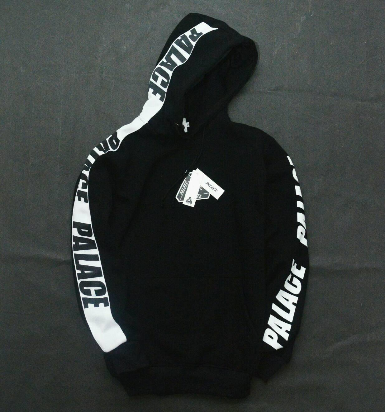 PALACE / JAKET HOODIE PALACE BLACK / JAKET UNISEX SIMPLE / HYPEBEAST JACKET