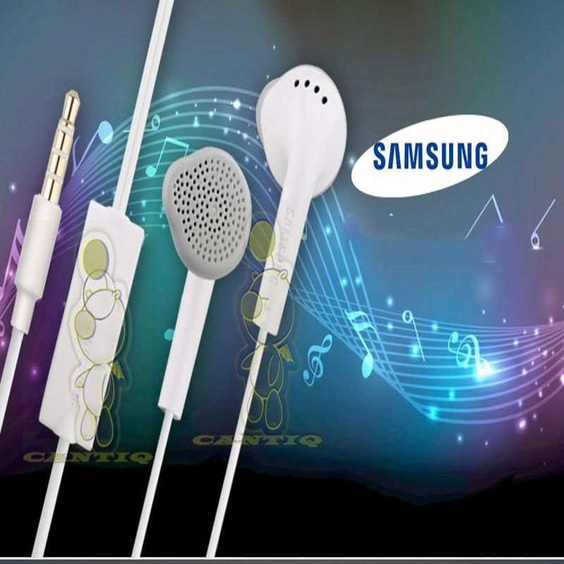 QCF Handsfree general untuk Android model earphone Samsung Handsfree Galaxy J5, J2 Prime, J7 Pro, J3 Pro, J7 Prime J5 Prime S5830 Stereo Portable Handsfree Samsung Earphone Samsung S5830 - Putih